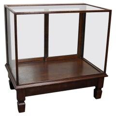 Mahogany Museum / Shop Display Cabinet or Vitrine, Early 20th Century