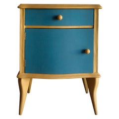 21st Century Cabinet-Sculpture Contemporary Gold-Blue Colors in Wood and Resin