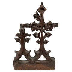 16th Century French Gothic Carved Oak Architectural Fragment