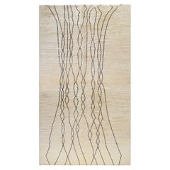 Large Contemporary Moroccan Inspired Deep-Pile Rug