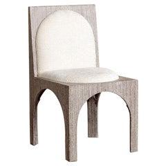 Kelly Wearstler Roxbury Dining Side Chair in Ivory Chenille