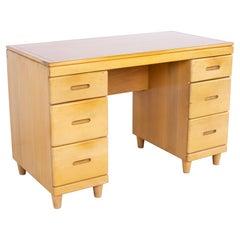 Heywood Wakefield Mid Century Maple Bookcase Desk