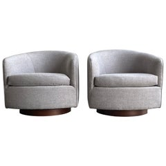 Milo Baughman for Thayer Coggin Swivel and Tilt Chairs