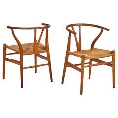 Pair of Hans Wegner Wishbone Chairs