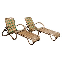 Pair of 1950s Bamboo Chairs