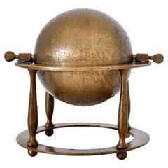 Antique 19th Century Islamic Arabic Bronze Celestial Globe Astrolabe