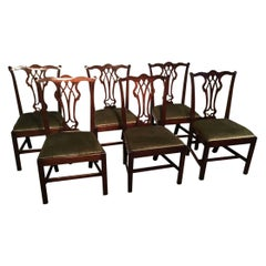 Set of 6 English Mahogany Chippendale Chairs