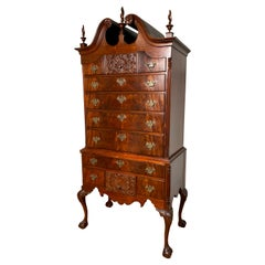 Antique 18th Century American Chippendale Chest on Frame Highboy Dresser