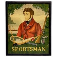 "English Pub Sign, ""Sportsman"""