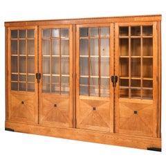 Large Oak Art Deco Amsterdamse School Library Bookcase, 1920s