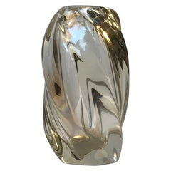 Freeform Crystal Vase from Val Saint Lambert, 1950s