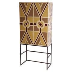 Tommi Parzinger Painted Bar Cabinet