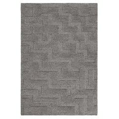 Boho, Gray Mix, Handknotted Rug in Scandinavian Design