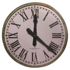 Early 20th Century 1900's Tower Light Up White Clock