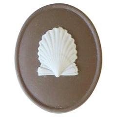 English Wedgwood Matte Jasperware Box with Scallop Seashell Design