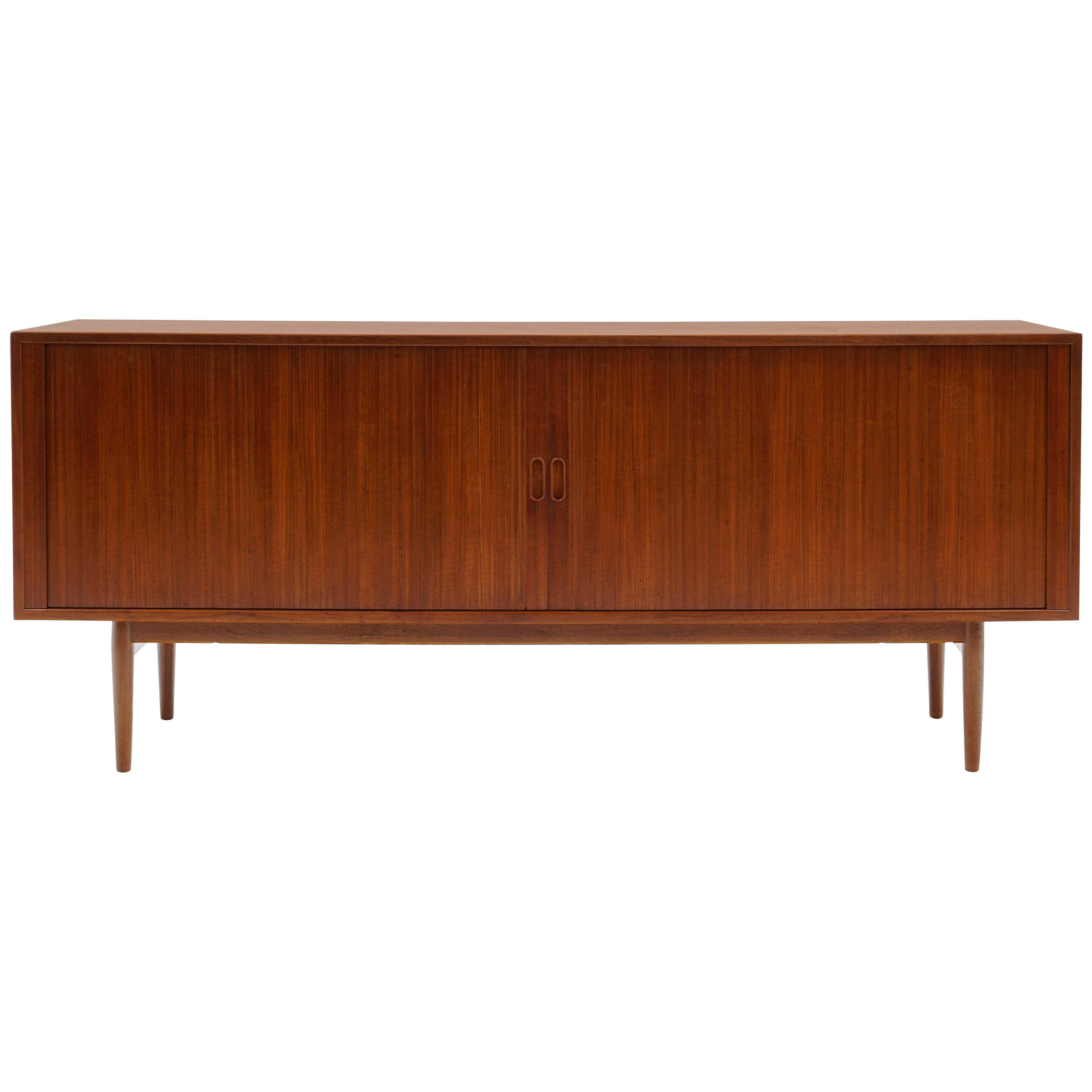 Rosewood Credenza by Arne Vodder, Disappearing Tambour Doors, ExpertlyRestored