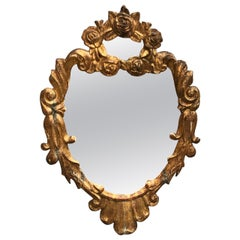 Small Gilded 19th Century Italian Wall Mirror