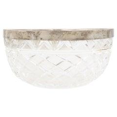 French Victorian Cut Crystal Bowl