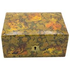 English Decoupage Cat Box