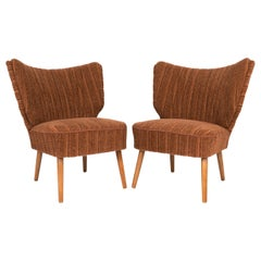 Pair of Danish Cocktail Lounge Chairs, C.1950