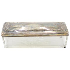 English Victorian Etched Silver Box