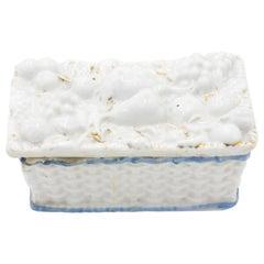 English Victorian White Porcelain Box