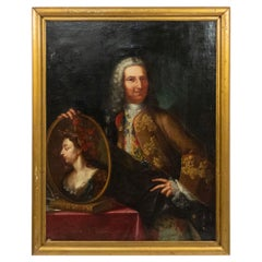 18th Century Oil Painting Portrait of an English Gentleman