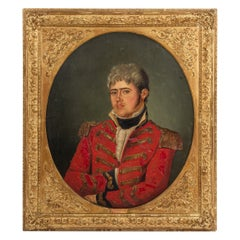 Oil Painting of a Military Officer