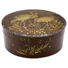 English Victorian Brown Lacquered Box
