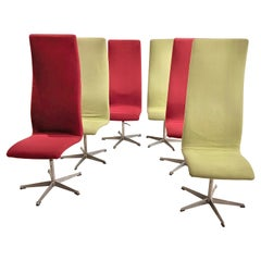 Set of 6 Oxford chairs by Arne Jacobsen