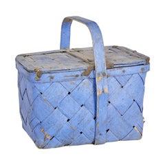 Late 19th Century Painted Swedish Fruit Basket