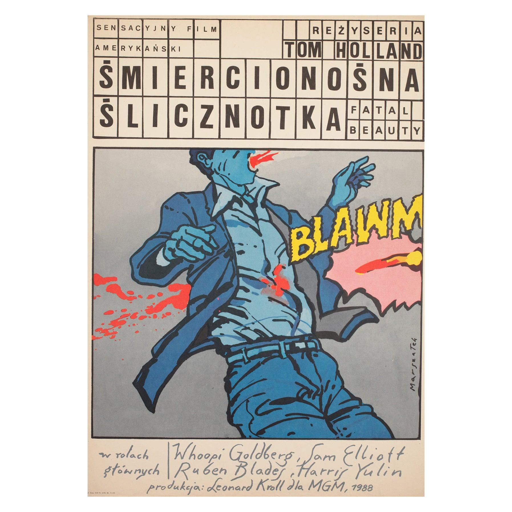 Fatal Beauty 1989 Polish B1 Film Movie Poster, Marszalek