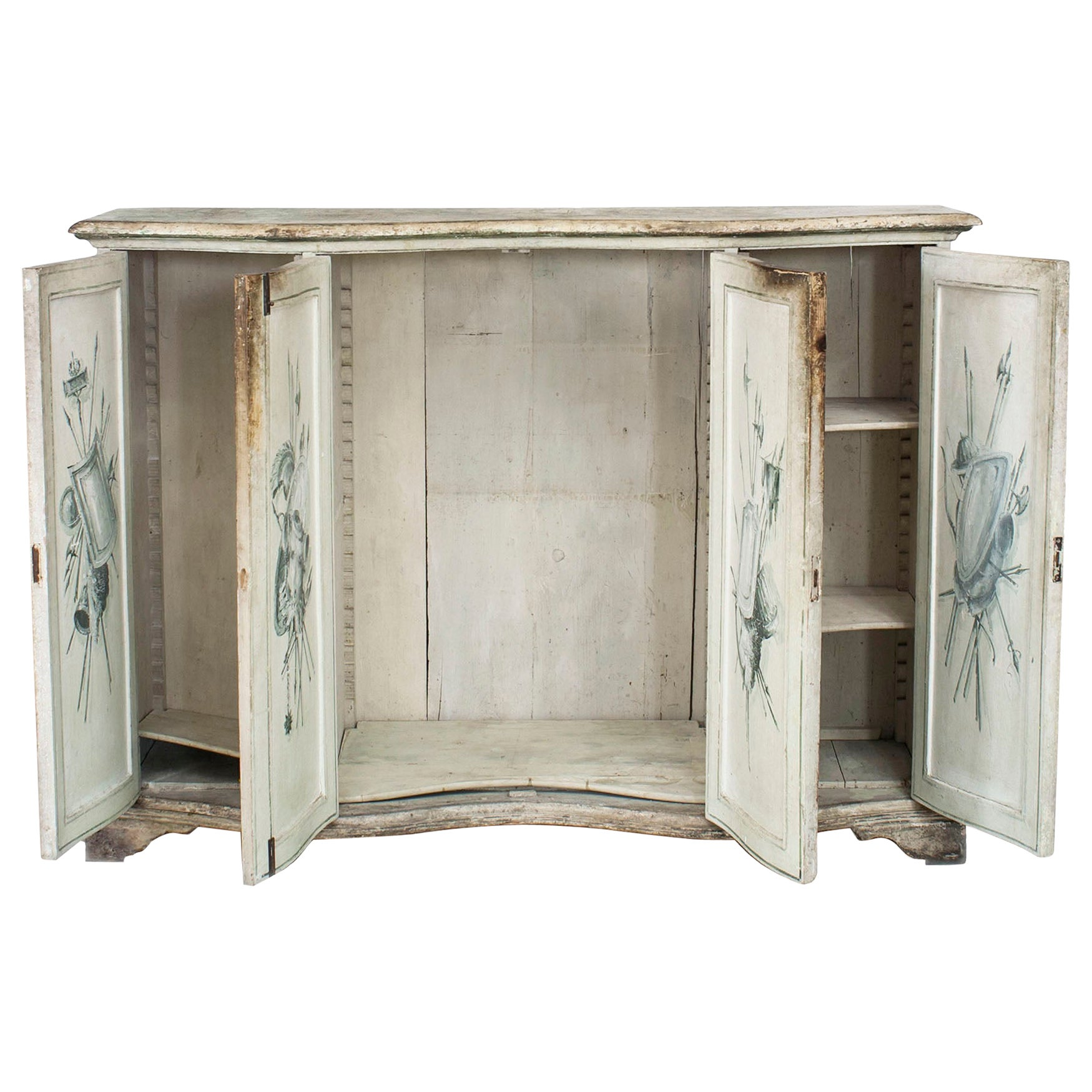 Italian Neo-Classic Grisaille Painted Commode
