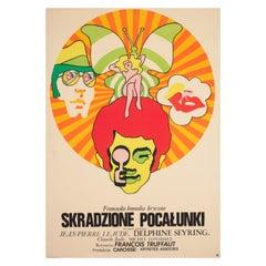 Stolen Kisses 1969 Polish A1 Film Movie Poster, Zbikowski