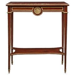 French Mid-19th Century Louis XVI Style Mahogany Rectangular Side Table