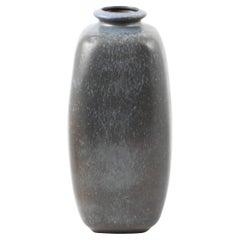Large Knabstrup Ceramic Vase, Glaze in Shades of Blue, Denmark Mid-Century