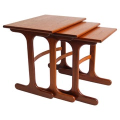 Mid-Century Modern Design Nesting Tables by G-Plan 1960 Teak Stacking Tables