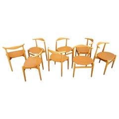 Hans J. Wegner Dining Chairs Set 8