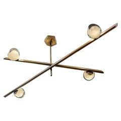 Antares Ceiling Light, Sfera Glass Version