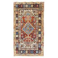 Colorful Scatter Size Antique Persian Heriz Rug