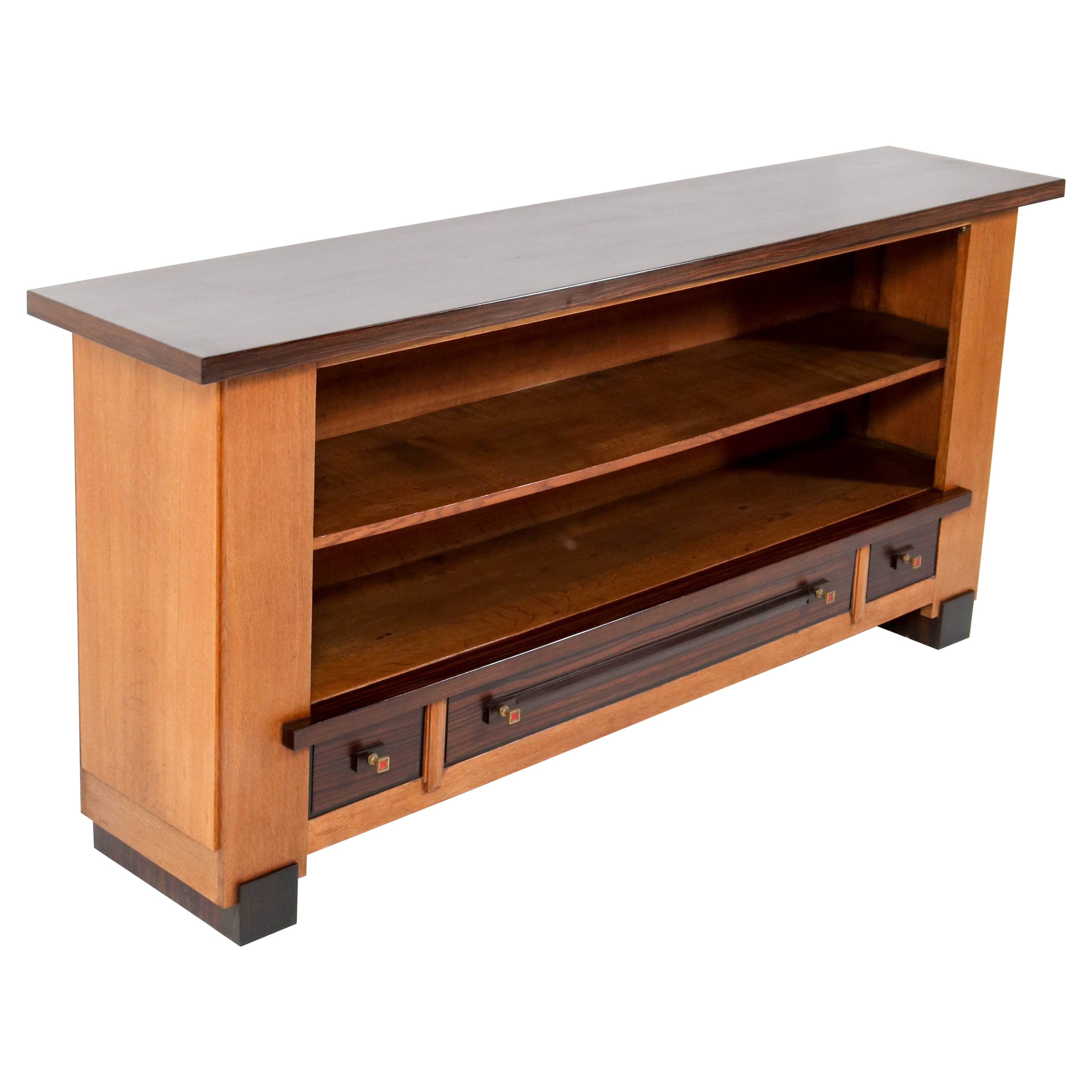Oak Art Deco Haagse School Credenza or Bookcase by Hendrik Wouda for H. Pander