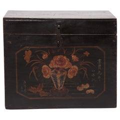 Chinese Painted Keepsake Chest, c. 1900