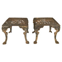 Pair of 19th Century Cast Iron Satyr Garden Benches or Tables