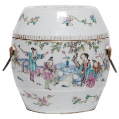 Chinese Famille Rose Soup Tureen with Children in Garden, c. 1900