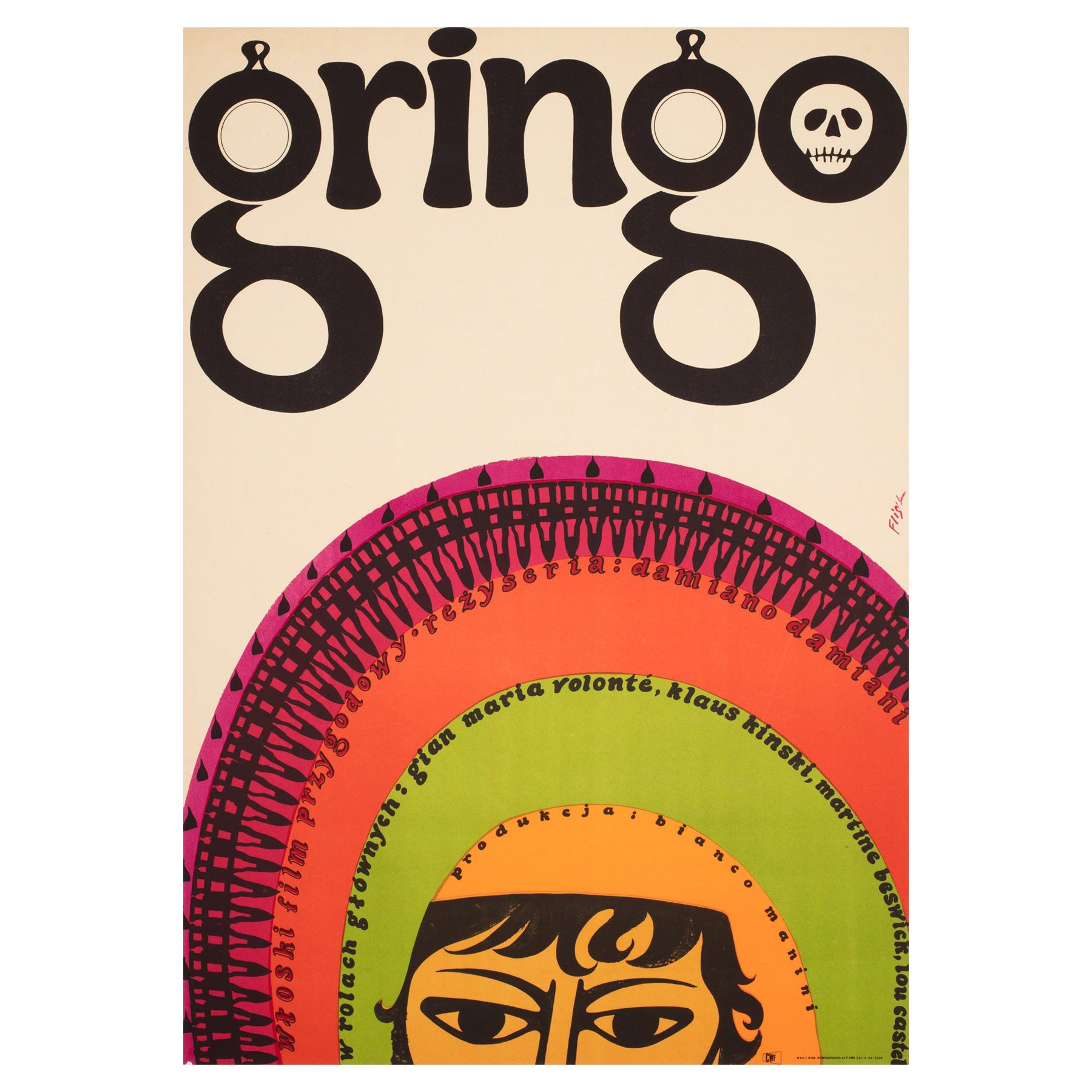 Gringo 1967 Polish A1 Film Movie Poster, Flisak