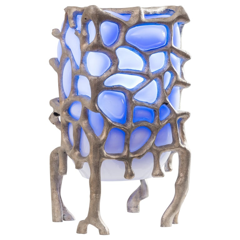 Sculptural Aluminum 'Illumination Machine' Table Lamp For Sale