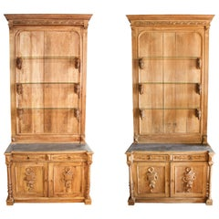 Pair of Bookcase Cabinets, circa 1860, France