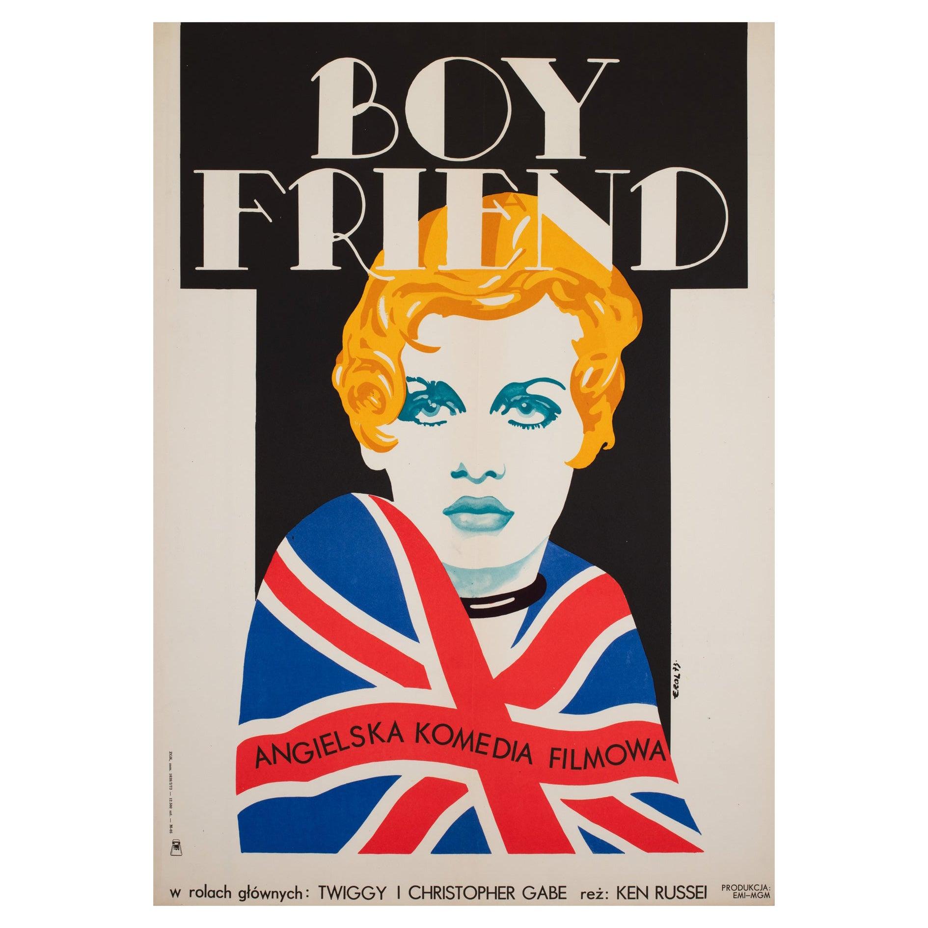 The Boyfriend 1973 Polish A1 Film Movie Poster, Erol