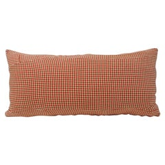 Palm Beach Orange and Natural Hound's-Tooth Pattern Decorative Bolster Pillow