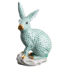 Herend Hungary Porcelain Rabbit Figure